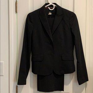 J. Crew black pant suit size 2